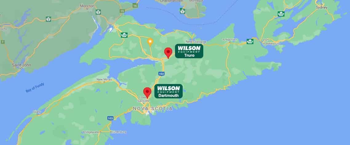 Wilson Equipment Location Map